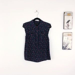 MARC JACOBS Leaf Printed Silk Button Down Top 4